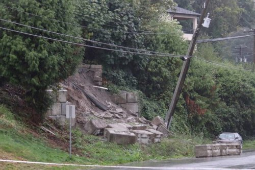 Emergency crews called as storm washes out retaining wall in Surrey - Surrey Now-Leader