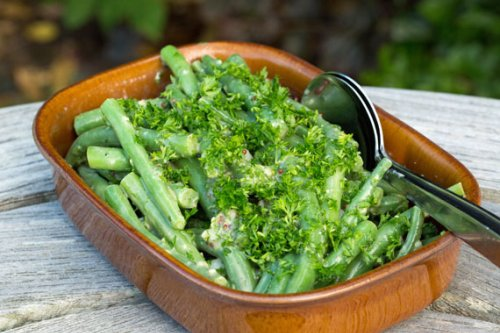 French bean salad with horseradish