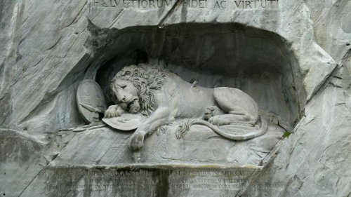Warum der Löwe von Luzern ein umstrittenes Denkmal ist