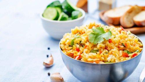 Asiatisch angehauchter Reissalat