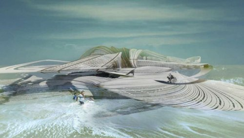 This futuristic floating resort could be built using tons of recycled ocean plastic