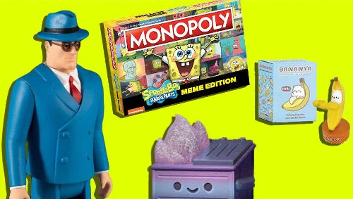 Important Toy News: Dumpster fire vibes, retro Superman, SpongeBob memes, and more