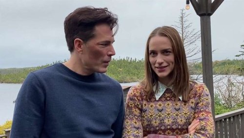 Tim Rozon and Melanie Scrofano talk reuniting (minus the mustache) in Episode 3 of SYFY's SurrealEstate