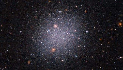 What happened to this galaxy's dark matter?