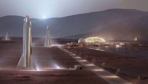 Elon Musk imagines Martian cities beneath glass domes, at least until the terraforming takes