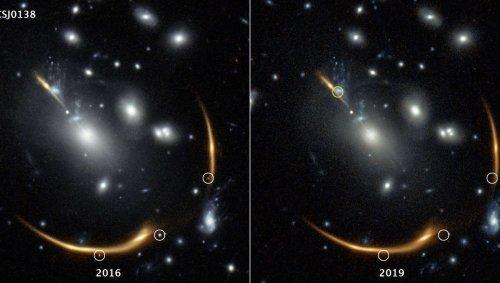 Space warp puts a supernova on cosmic repeat