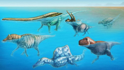 Would humongous dinosaurs sink or swim? The answer might surprise you