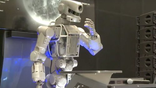 Russia's humanoid robot looks like Robocop, has AI brains and is going to the ISS