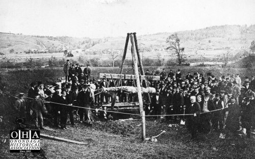 The 'discovery' of the Cardiff Giant in 1869 transforms an Onondaga County hamlet into 'Giantville'