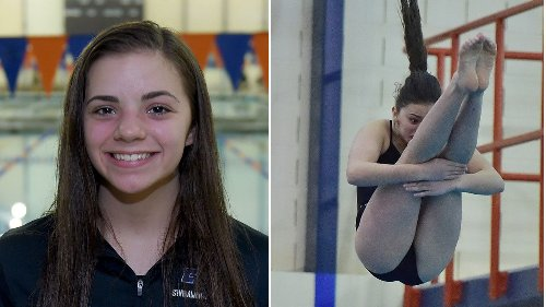 C-NS diver Kaitlyn Carroll, NH's Bella Kolb each win Section III 11-dive competitions
