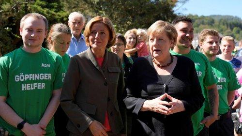 """Merkel im Ahrtal: """"Wir werden Sie nicht vergessen"""""""