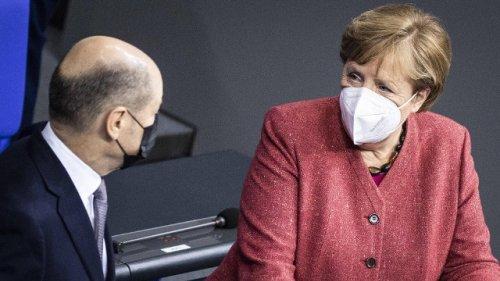 """Angela Merkel über Olaf Scholz als Kanzler: """"Ich kann ruhig schlafen"""""""