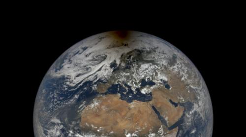 Nasa-Aufnahme zeigt, wie Aliens eine Sonnenfinsternis auf der Erde sehen würden