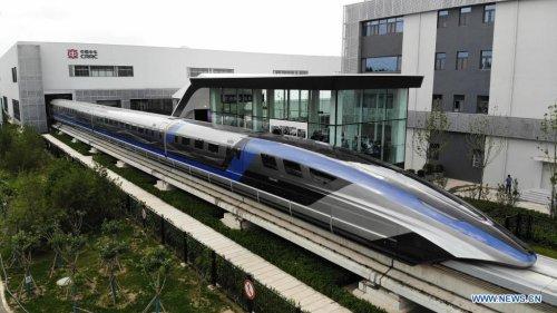 Magnetschwebebahn: China stellt 600 Kilometer pro Stunde schnellen Zug vor