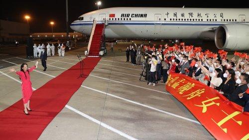 Propaganda-Empfang für Meng in China