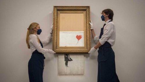 Halb geschreddertes Banksy-Bild für mehr als 18 Millionen Pfund versteigert