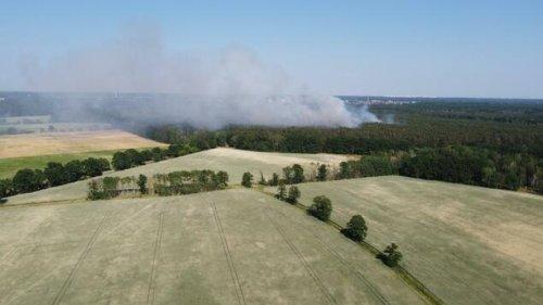 Waldbrand wütet bei Bötzow – Wasserbetriebe melden neuen Rekord