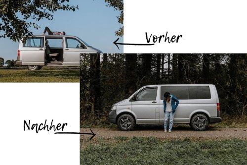 Sichtschutz im VW T5 Camper anbringen: Vorhänge und Scheibentönung selber machen