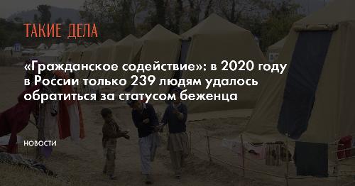 «Гражданское содействие»: в 2020 году в России только 239 людям удалось обратиться за статусом беженца