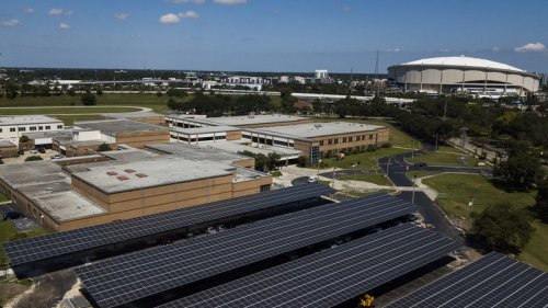 Here's why a solar canopy is being added to John Hopkins Middle School in St. Petersburg