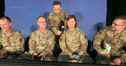 Air Force's top enlisted leader gets wrecked by subordinates in Mario Kart