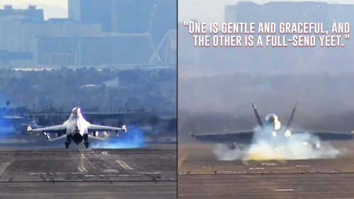 The difference between Air Force and Navy pilots in one short video