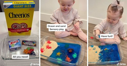 Parents Are Making Edible Sensory Bins for Their Kids Out of Cheerios