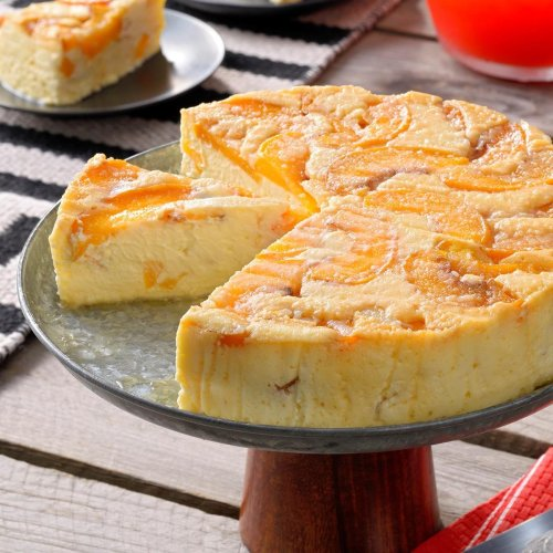 Peach Upside-Down Cheesecake