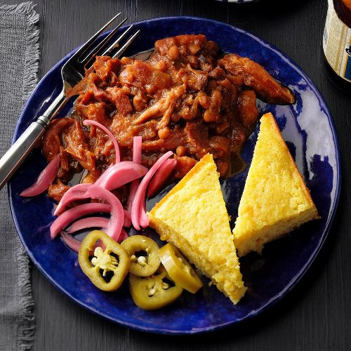 Mom's Molasses Ham and Beans