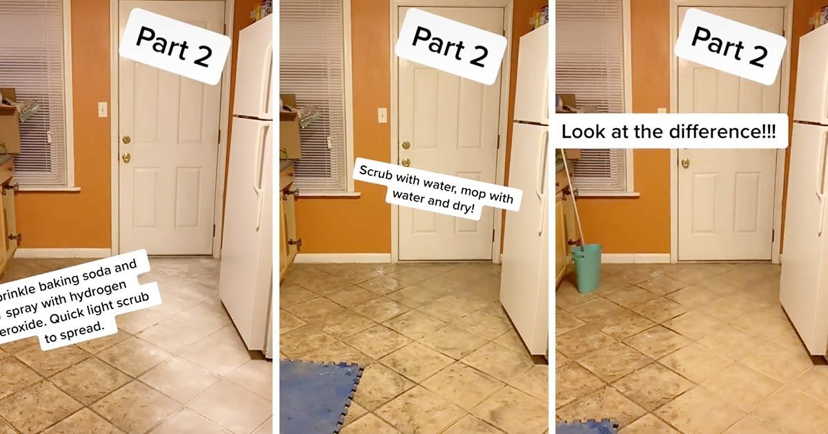 This Tile Floor Cleaning Hack Will Completely Change the Way You Mop
