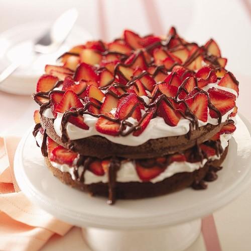 Chocolate Strawberry Torte