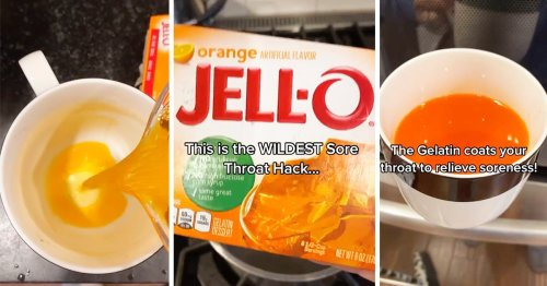 Moms Everywhere Are Making a Sore Throat Remedy from JELL-O—Here's How