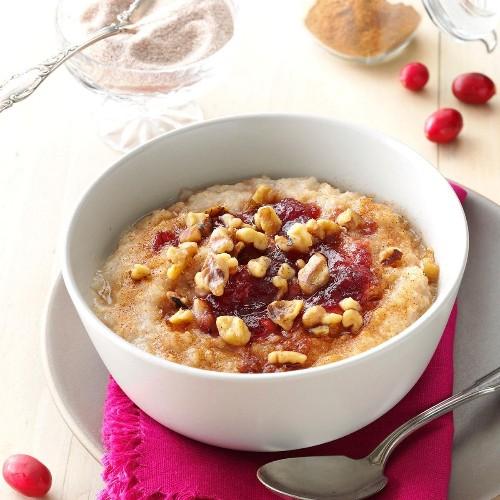 Cranberry-Walnut Oatmeal