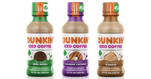 Dunkin' Is Dropping 3 New Girl Scout Iced Coffees