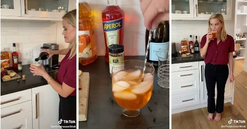 Reese Witherspoon JUST Shared Her Recipe for a Fizzy Apple Cider Cocktail, and We're OBSESSED