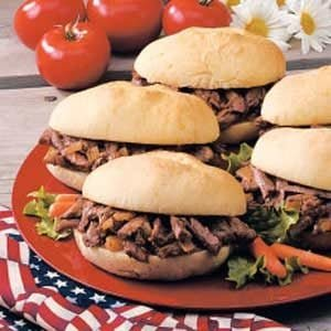 Mile-High Shredded Beef for a Crowd