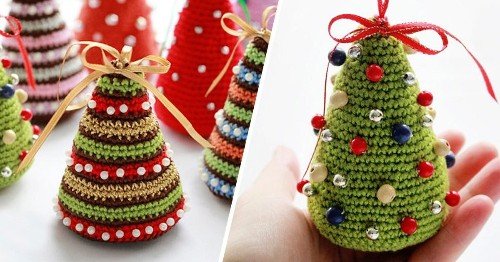 Crocheted Christmas Trees Are the Perfect Holiday Decor—Here's How to Make Them