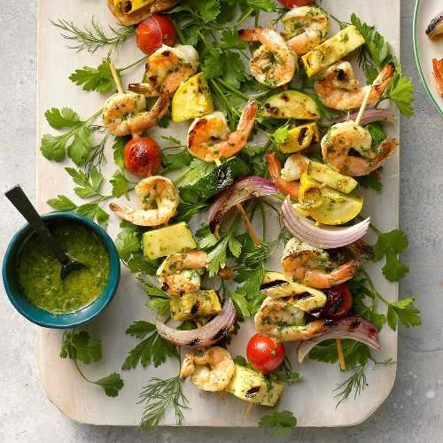 Lime and Dill Chimichurri Shrimp