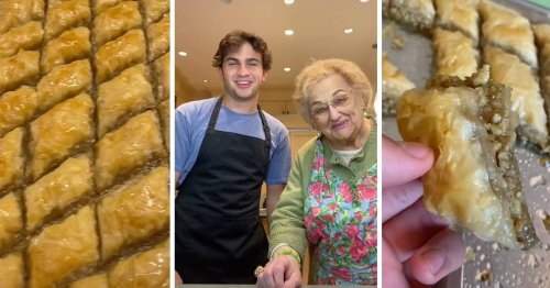 This Grandma and Grandson Duo Show You How to Make Authentic Baklava