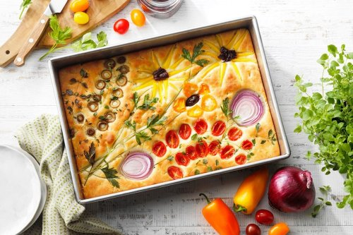 How to Make the Prettiest Focaccia with Your Garden Harvest