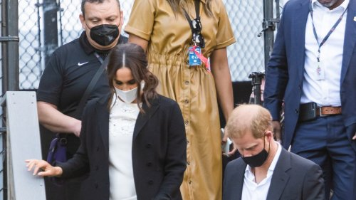 The Duchess of Sussex follows in Diana's fashion footsteps with signature Dior bag