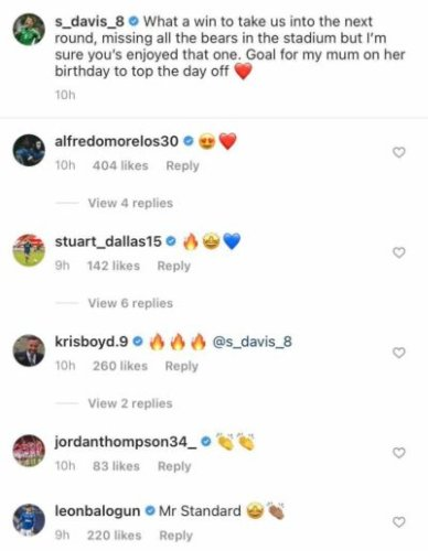 'Legend': Graham Dorrans, Kenny Miller and others send Instagram messages to one Rangers player