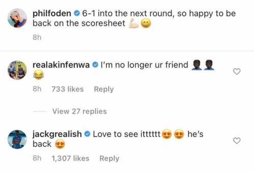 Jack Grealish delivers six-word Instagram verdict on Manchester City star's Tuesday display