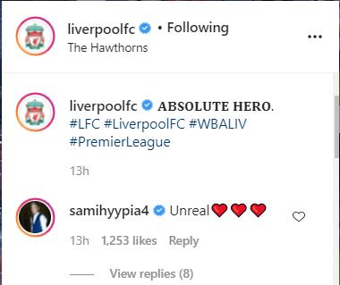 Sami Hyypia delivers seven-word Instagram verdict on last-gasp Liverpool win