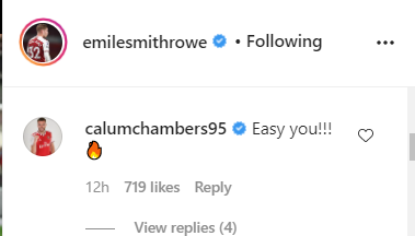 Leipzig star and Calum Chambers laud £20,000-a-week Arsenal star on Instagram