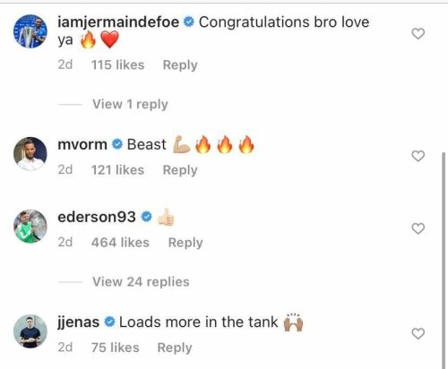 Defoe and Jenas react on Instagram as £53m Manchester City star makes announcement