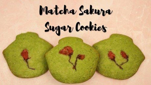 Matcha Sakura Sugar Cookies