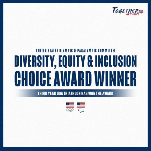 USA Triathlon's Together, We Thrive Initiative Wins USOPC Diversity Equity and Inclusion Award