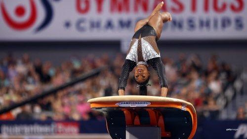 Simone Biles Looks Olympic Ready In Winning Record Seventh U.S. Title