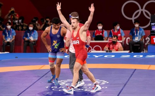 Taylor to battle 2016 Olympic champion Yazdani of Iran in Olympic finals; Gilman pulled back into repechage